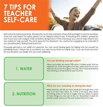 7 Tips for Teacher Wellbeing