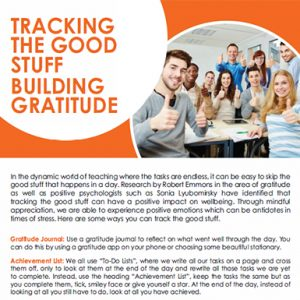 Tracking the Good Stuff - Gratitude